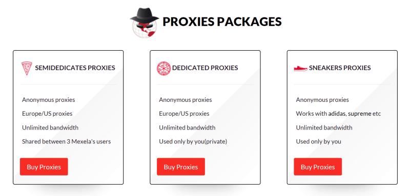 Type of Mexela proxies