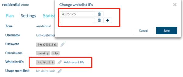 Add whitelist IPs