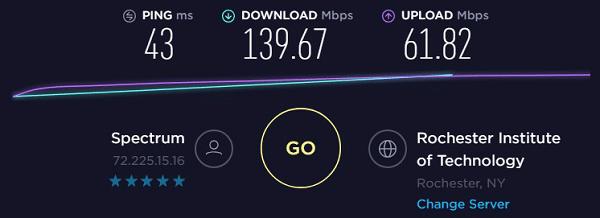 Speed test to IP8 - 72.225.15.16