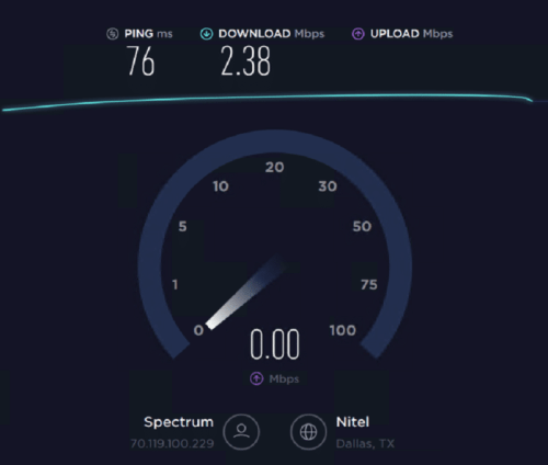 Speed Test of Stromproxies Residential IP 8