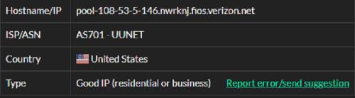 Stormproxies ISP test ip2