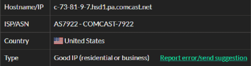 Stormproxies ISP test ip3