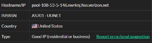 Stormproxies ISP test ip7