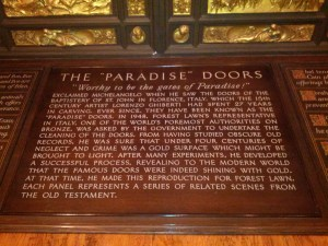 Famous Paradise Door Replica - Forest Lawn Museum