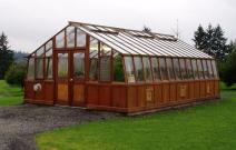 16' wide greenhouse with double doorss