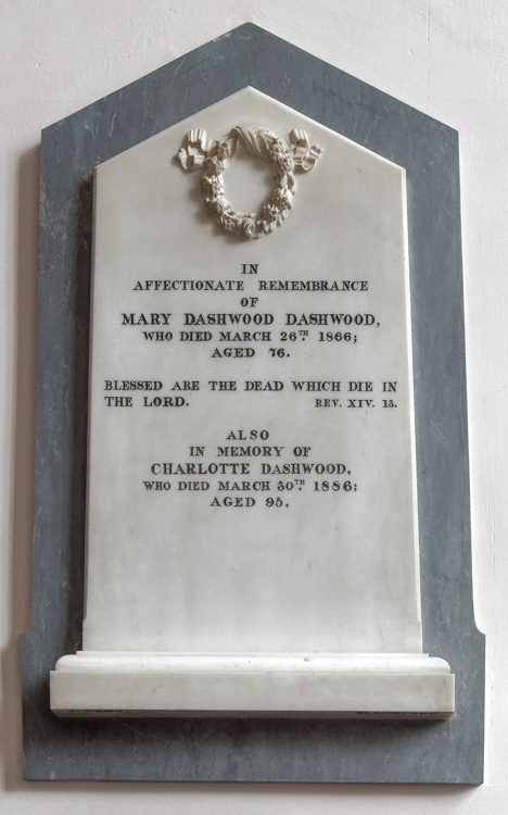 Sturminster Newton St Mary's Church Mary Dashwood