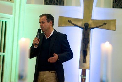 NDR-Fernseh-Chefredakteur Andreas Cichowicz kam zum Gottesdienst. Foto: Christian Hass