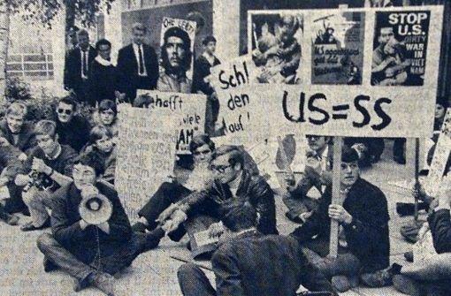 Demo Joschka Fischer, 20. Oktober 1967 Reproduktion