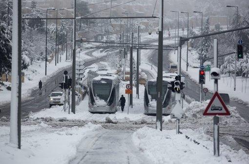 Schnee in Jerusalem Foto: EPA