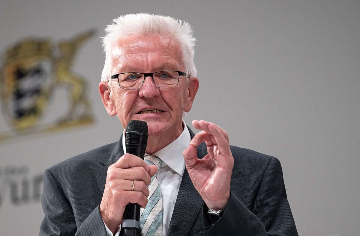 winfried kretschmann droht mit