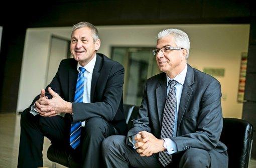 Raimund Becker (li.) Vorstandsmitglied der Bundesagentur für Arbeit (BA) und Christian Rauch, Leiter der Regionaldirektion in Baden-Württemberg. Foto: Lichtgut/Leif Piechowski