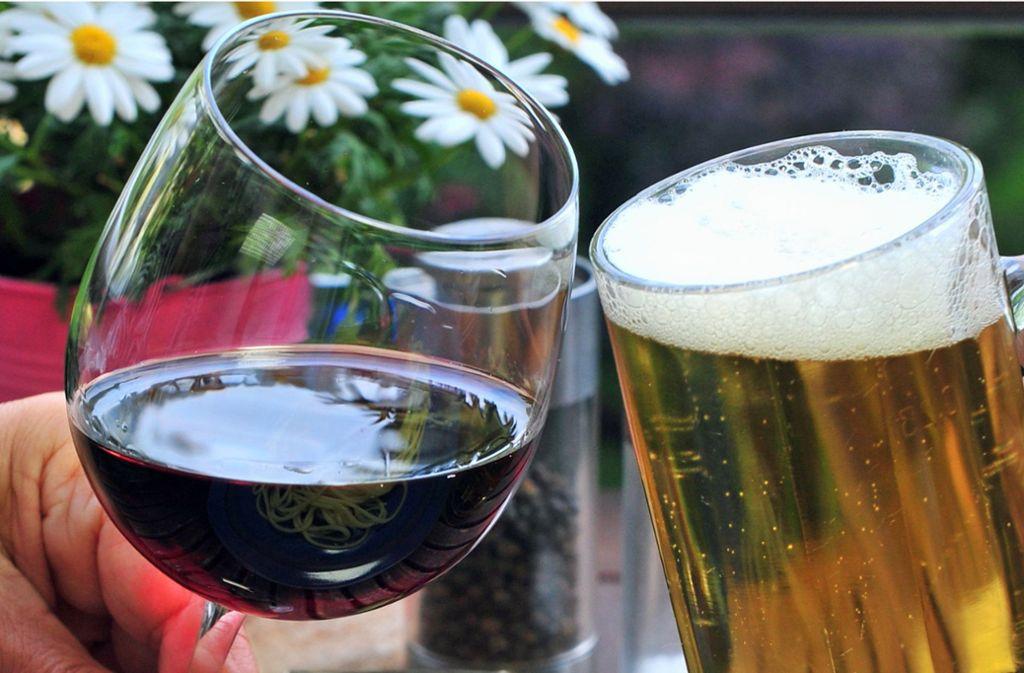 alkohol bier auf wein das lass sein