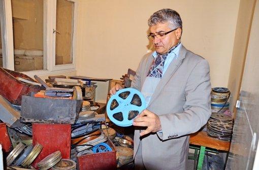 Sisyphos mit Filmspule: der Institutsdirektor Ibrahim Arify Foto: Gerstner