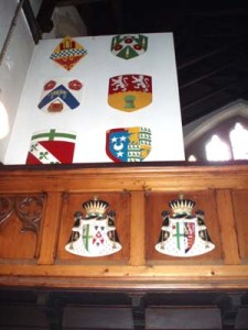 Shields and European coats of arms in St Vincent's