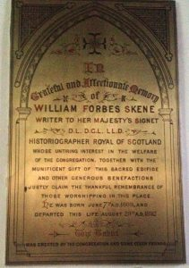 The memorial to William Forbes Skene (1809 - 1892) in St Vincent's