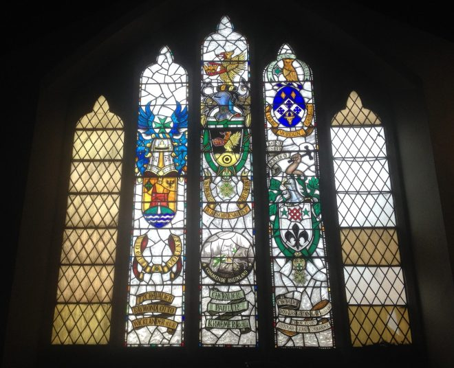 St Vincent's West Window, above the Gallery
