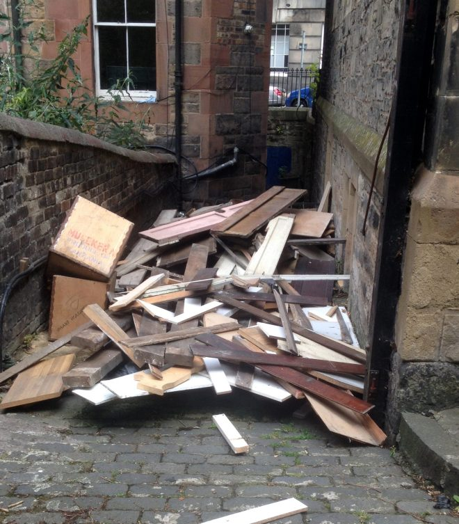 Some of the rubbish to be removed from St Vincent's in July 2015.