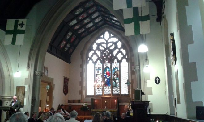 Choral Evensong at St Vincent's on Saturday 22nd August 2015 as part of the Edinburgh Festival Fringe