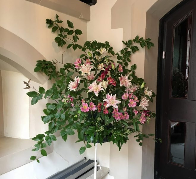 Front entrance flowers for Doors Open Day on 24th and 25th September 2016 when over 500 people visited St Vincent's.