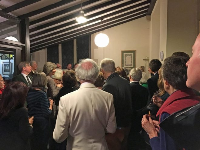 Guests at a private birthday party in the Refectory in September 2016. It followed a piano recital in the church.