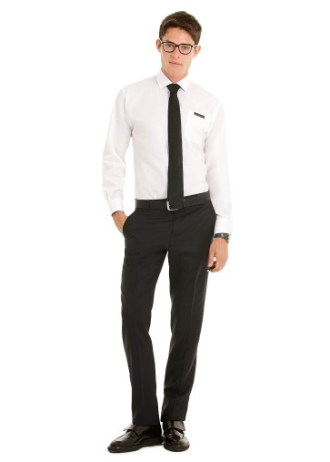 Chemise homme polyester coton