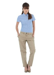 Vente client chemise oxford femme