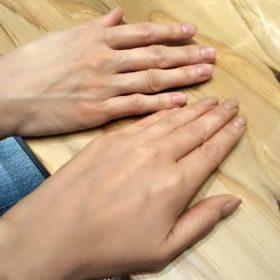 骨格ナチュラルとウェーブの手の違い