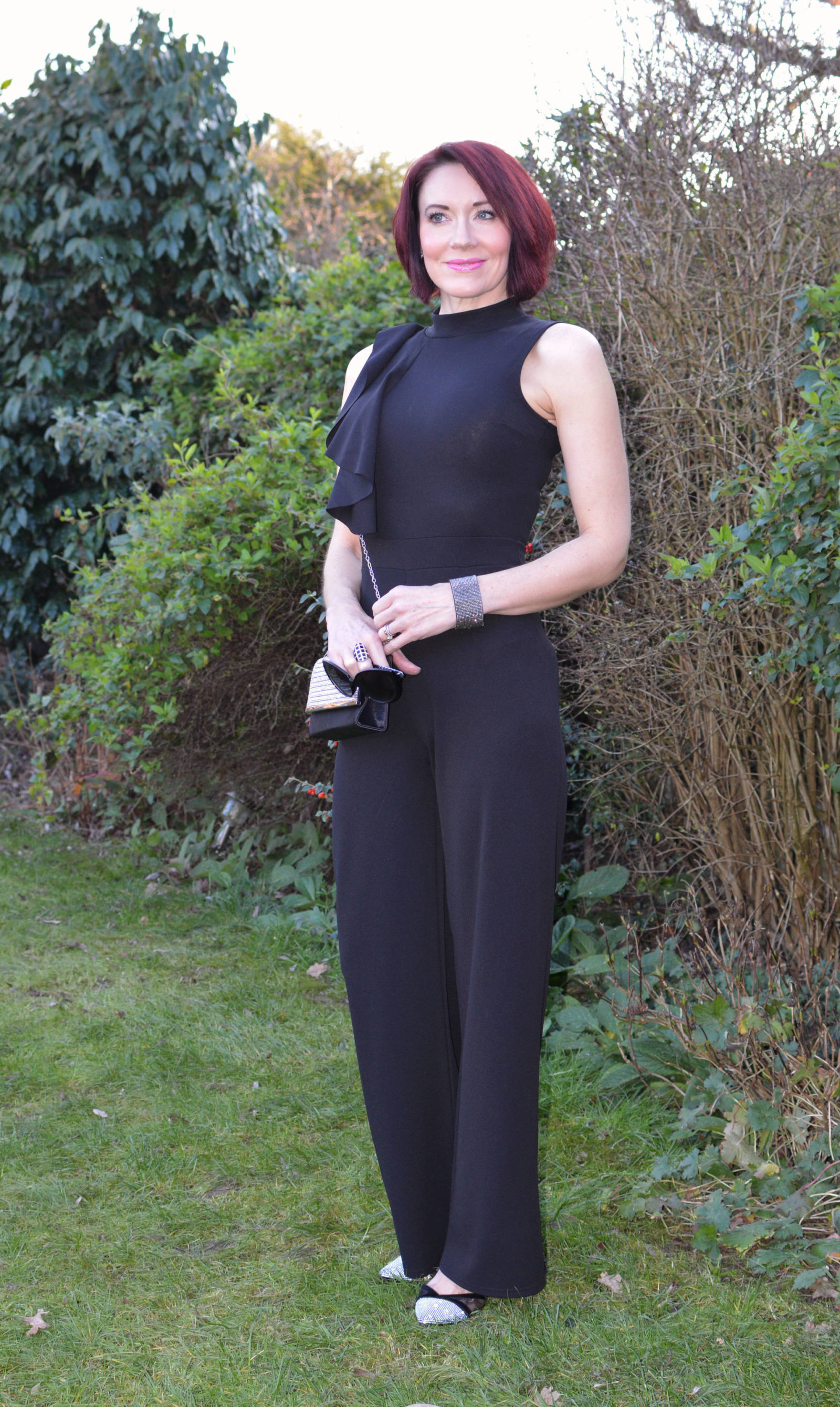 Styled By My Husband Quiz Palazzo Jumpsuit Style With A Smile Link Up