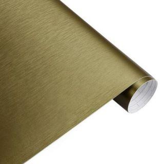 Brush alu gold Autofolie