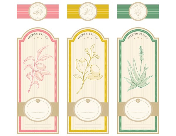Vintage Herbal labels template #1