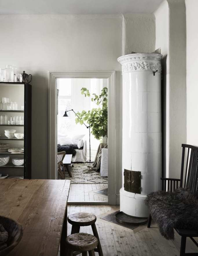 Standalone Swedish fireplace | Home of Artilleriet's Owners