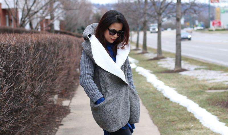 SheIn Sweater Coat, outfit, winter, outerwear, sweater, jacket