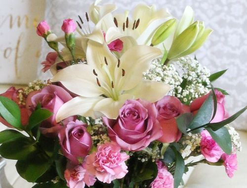 bouquet flowers, roses