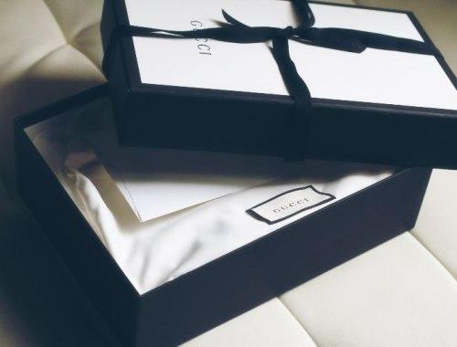 Gucci bag box unboxing, designer purse, bag reveal