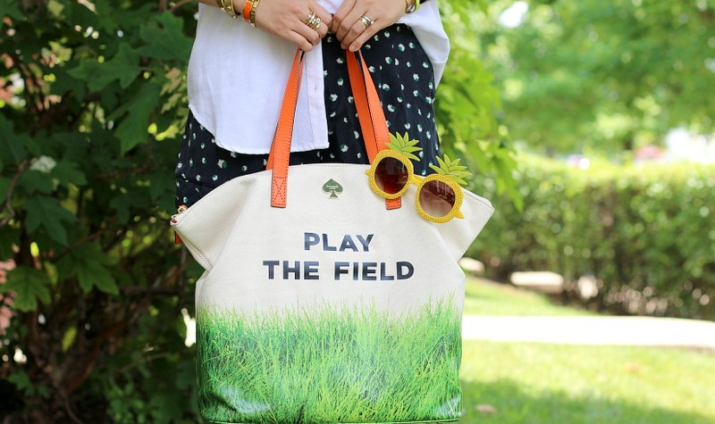 Play the Field bag, kate spade, tote, outfit, fashion, style