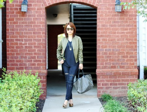 Zaful army green bomber jacket, fashion, outfit, ootd