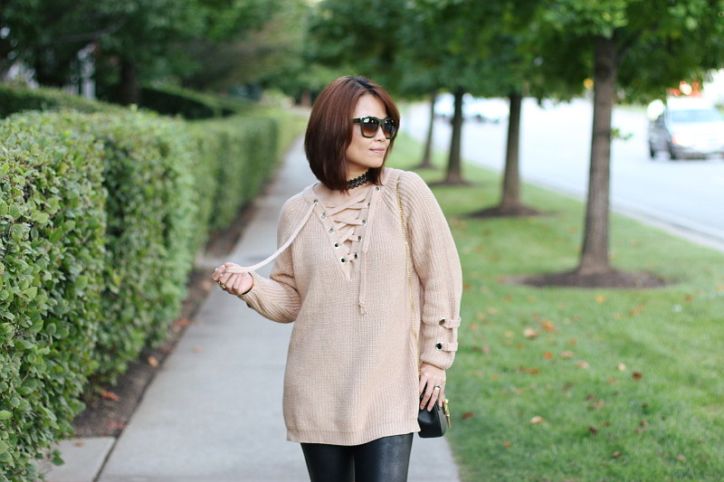 Sammy Dress Lace Up Sweater