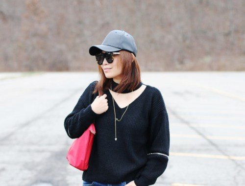 Zaful Choker Sweater
