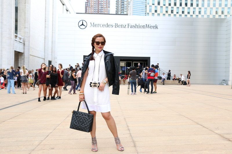 LIberty Sage Studio, Mesh Dress, white dress, New York Fashion Week, Mercedes Benz Fashion Week, #NYFW, #MBFW