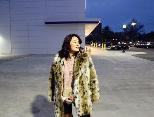 Faux Fur Leopard Coat, Saint Laurent Bag