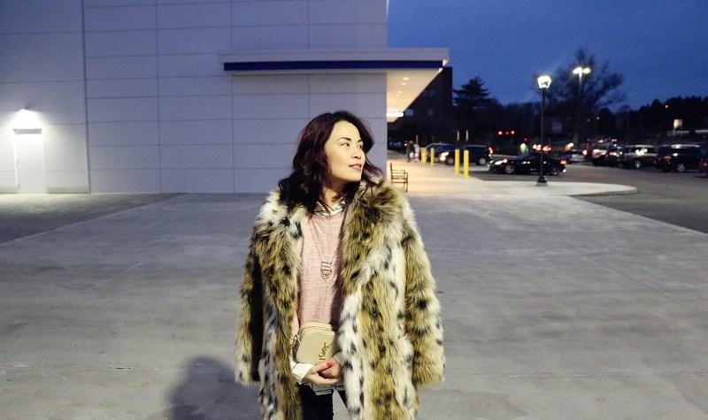Faux Fur Leopard Coat, Saint Laurent Bag