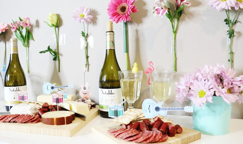 Notable Wines Music Festival Theme Wine Cheese Spread