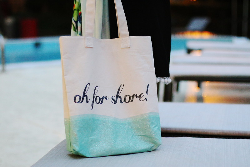 Oh For Shore Tote pool side