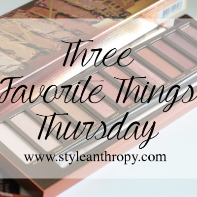 Three Favorite Things Thursday, Urban Decay Naked Heat Palette