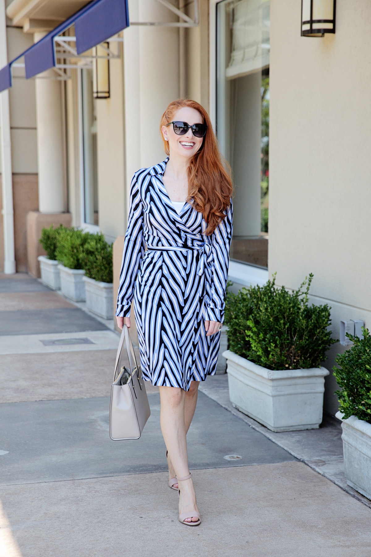 0d27a8728486a Outfit: DVF Wrap Dress - Style Assisted