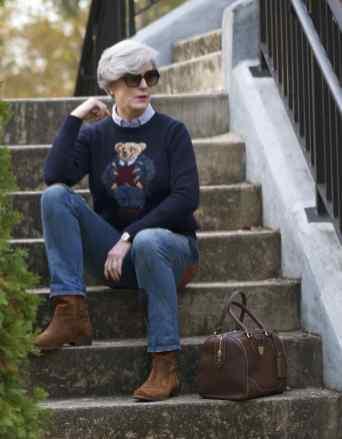 ralph lauren boyfriend jeans ralph lauren bear sweater