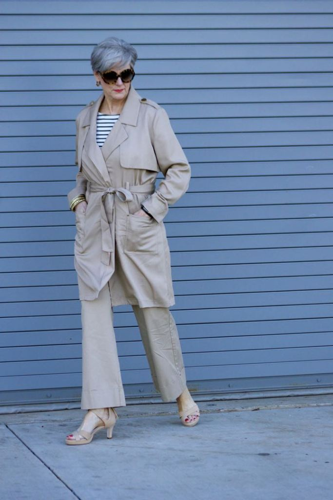 adrian allen shoes, a new day khaki pants trench coat, boden stripe tee