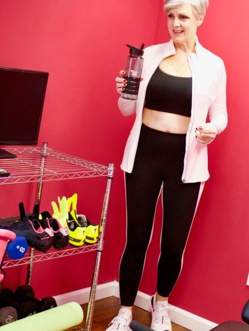 beth from Style at a Certain Age wears workout gear from Athleta