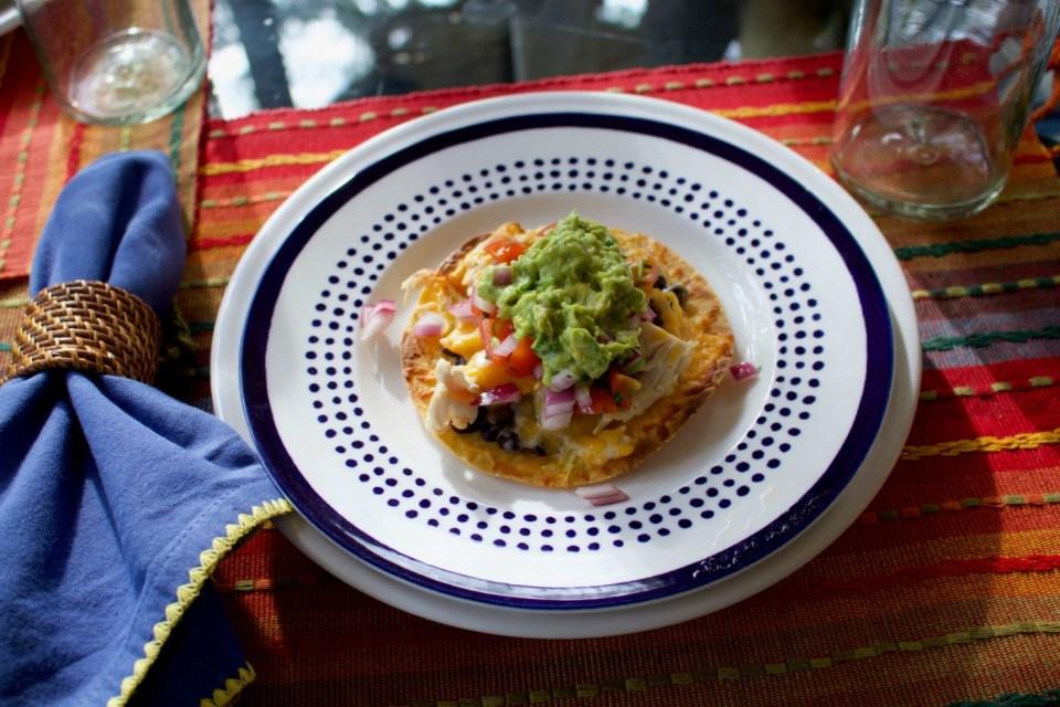 nacho chicken tostada