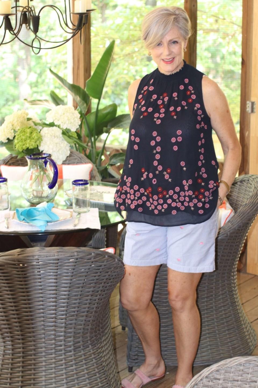 summer tops and summer shorts